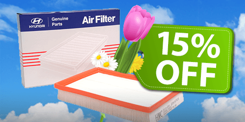 15% OFF Hyundai Genuine Cabin Air Filter!