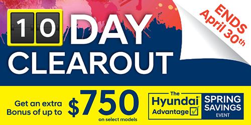 The Hyundai Advantage – Spring Saving Event