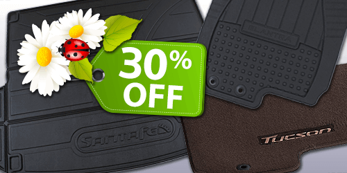 30% off All Premium Floor Liners, Cargo Trays & Rubber Mats