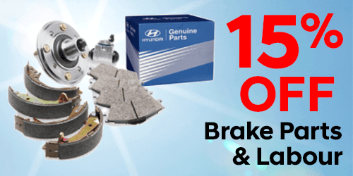 15% OFF Brake Parts & Labour
