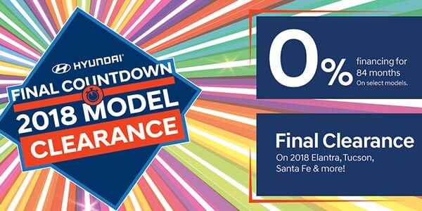 Hyundai Final Countdown 2018 Model Clearance