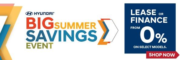Hyundai Big Summer Savings Event