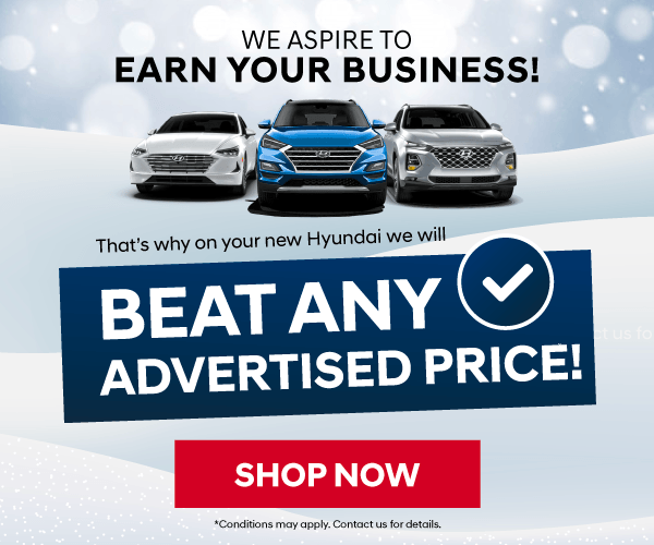 Cooksville Hyundai WIll Beat Any Advertised Price - We Aspire to Earn Your Business